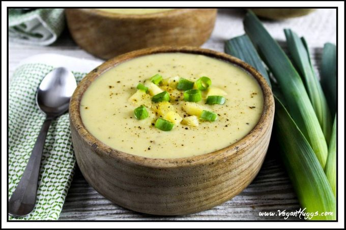 Creamy Vegan Potato Leek Soup | Vegan Huggs