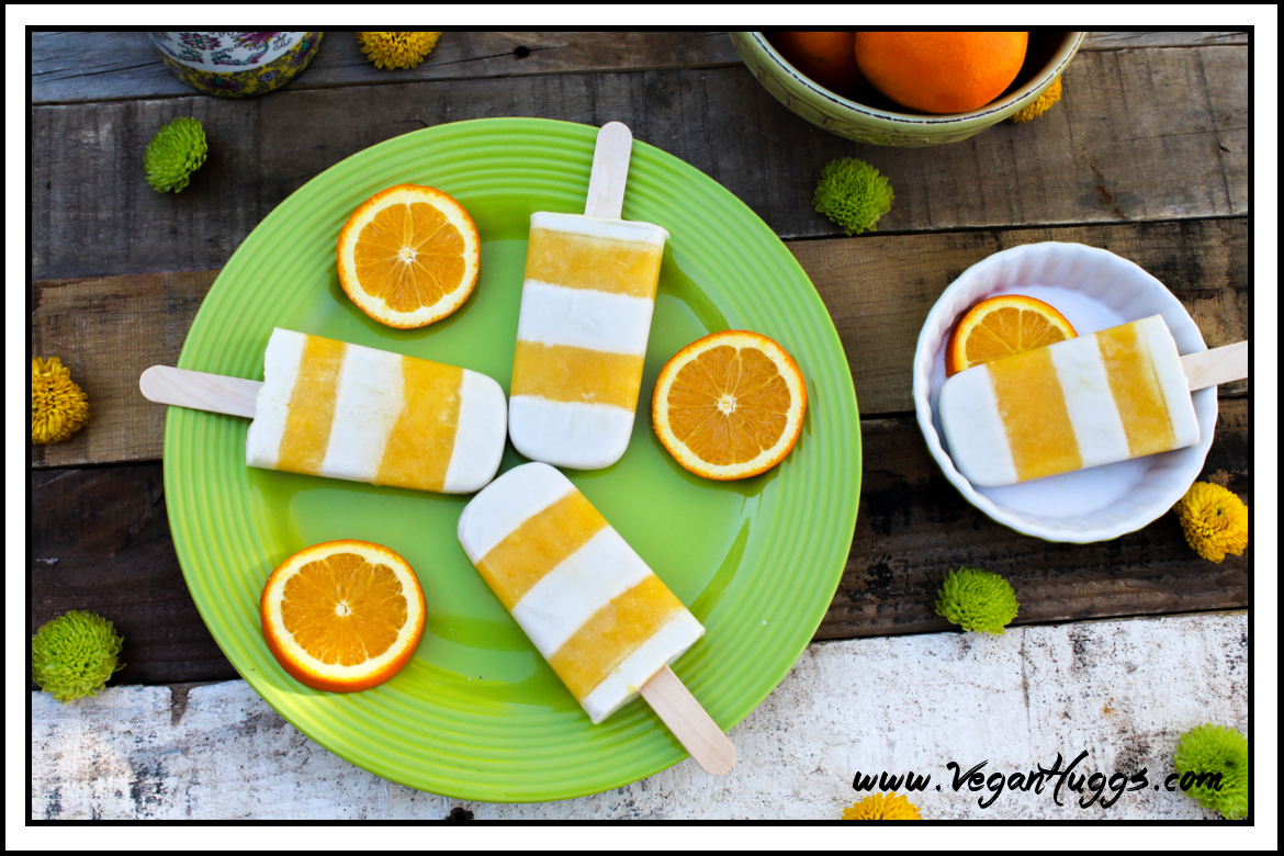 The orange tangy flavor combined with creamy vanilla makes these Orange Creamsicle Pops a treat to remember.
