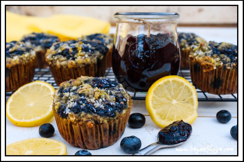 Blueberry Jam Muffins With Lemon Coconut Sugar (GF + Vegan ...