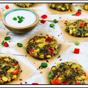 Vegan Zucchini Corn Fritters (GF)