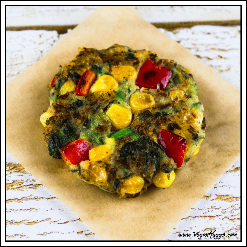 These Vegan Zucchini Corn Fritters are packed with flavor and are gluten-free. They can be enjoyed as an appetizer, side dish or snack.