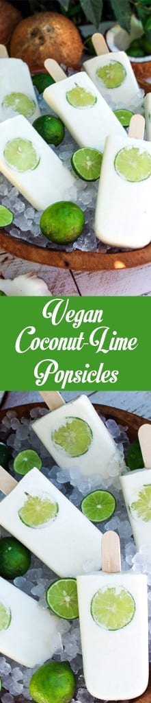Vegan Coconut Lime Popsicles