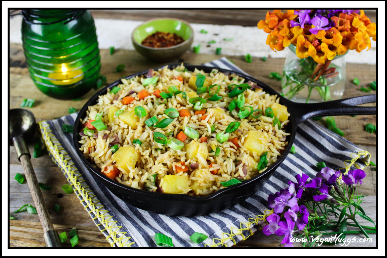 Easy pineapple fried rice vegan gf vegan huggs easy pineapple fried rice vegan gf ccuart Choice Image