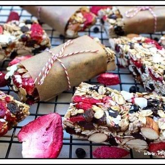 Chewy No-Bake Granola Bars (Vegan & Gluten-Free)