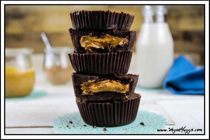 These Vegan Chocolate Peanut Butter Cups are rich, chocolatey & nut-buttery good. They are refined sugar free and gluten-free.