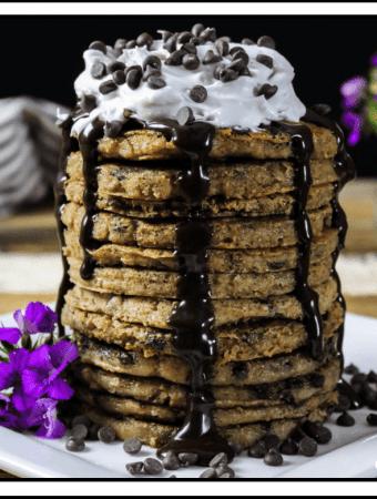 Chocolate Chip Pancakes (Vegan & GF)