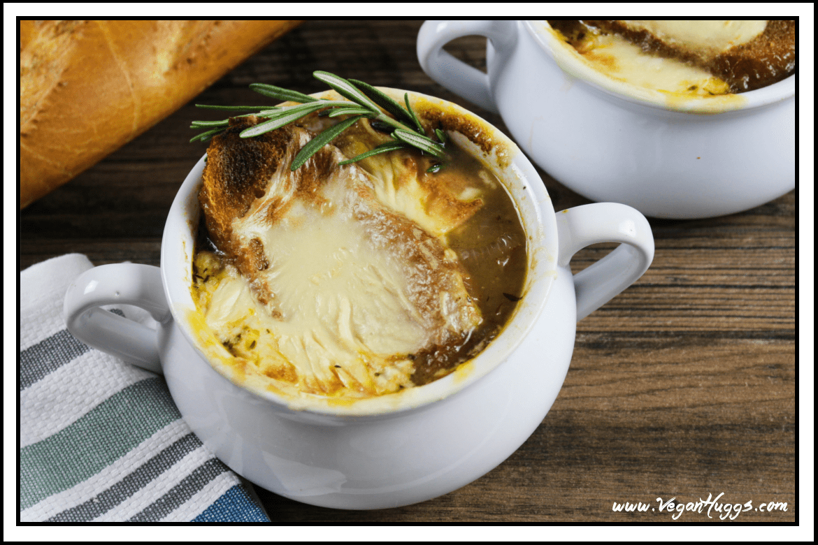 Get ready to cry some happy tears, because you have found a VEGAN French Onion Soup. This soup is rich, savory & downright scrumptious. It's calls for very simple ingredients and just a little love. This bistro-style classic can be yours in no time.