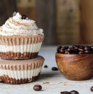 Vegan Mocha Cheesecake Bites