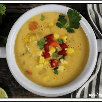 Vegan Potato, Leek & Corn Chowder