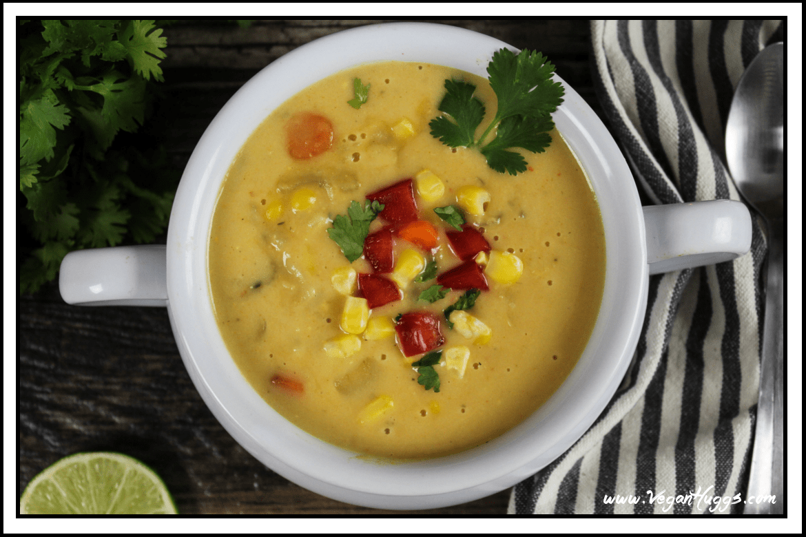 Vegan Potato Leek Corn Chowder