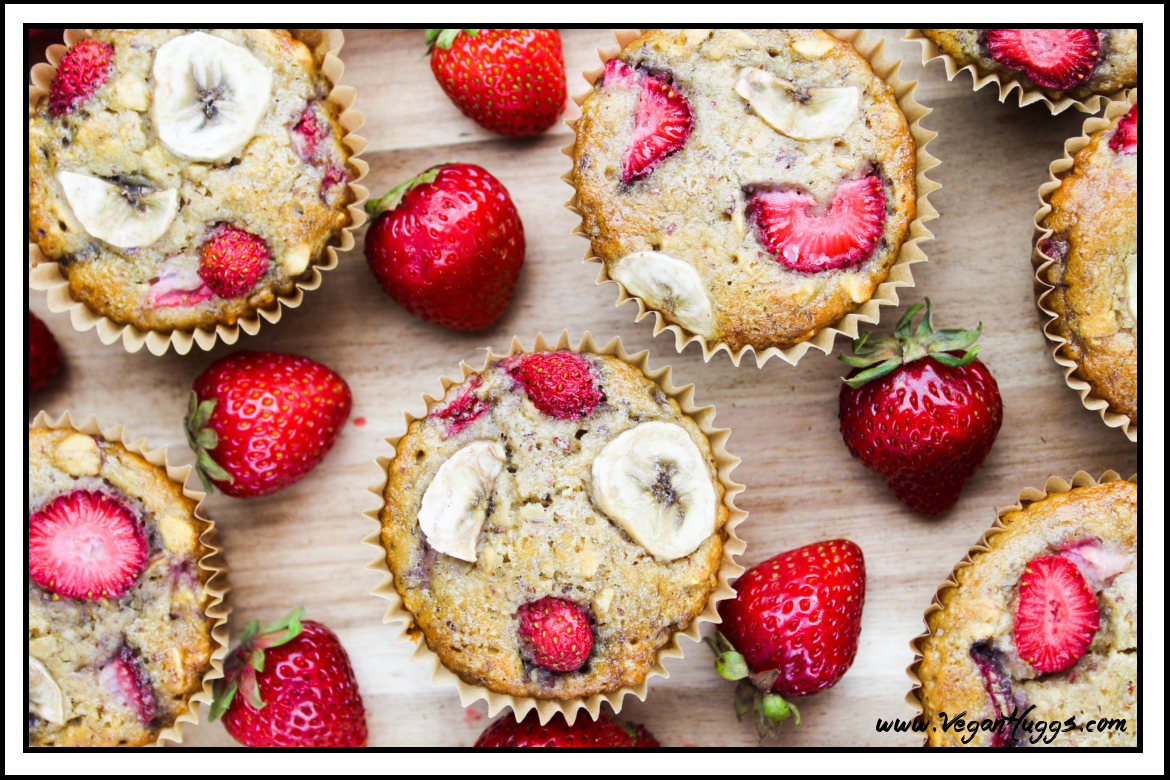 Strawberry Banana Breakfast Muffins