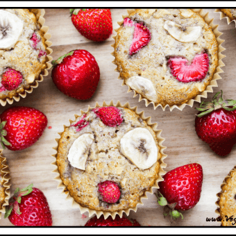 Strawberry & Banana Breakfast Muffins (Vegan & Gluten-Free)