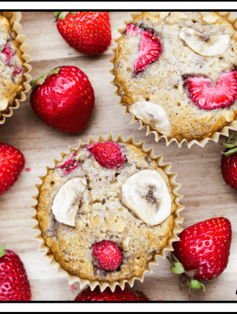 Strawberry & Banana Breakfast Muffins (Vegan & Gluten-Free)