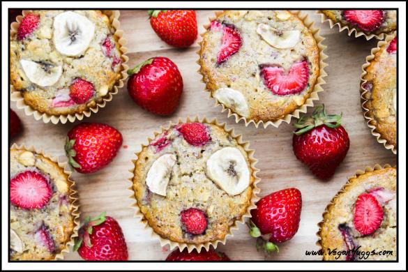 Strawberry Banana Breakfast Muffins