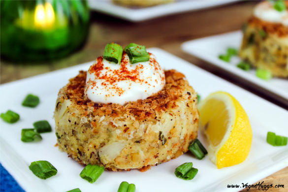 These Vegan Crab Cakes are crunchy on the outside, yet moist and flaky on the inside. They can be enjoyed as an appetizer, side dish or a main dish.