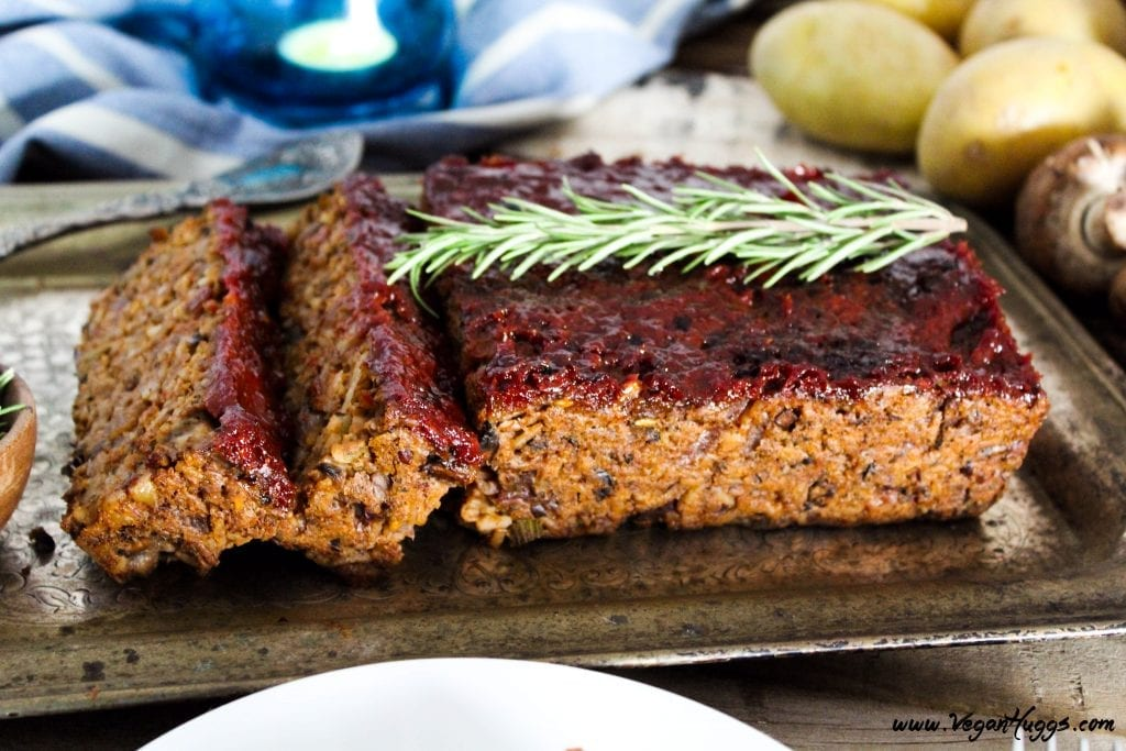 Looking for the perfect meatless meal? This Mushroom-Walnut Meatless Loaf w/ Ketchup Glaze is hearty, healthy & full of flavor. It will keep the vegans & non-vegans at the table together.