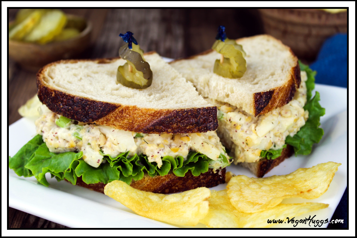 Vegan tuna salad sandwich gluten free vegan lunch recipe for Tuna and egg sandwich