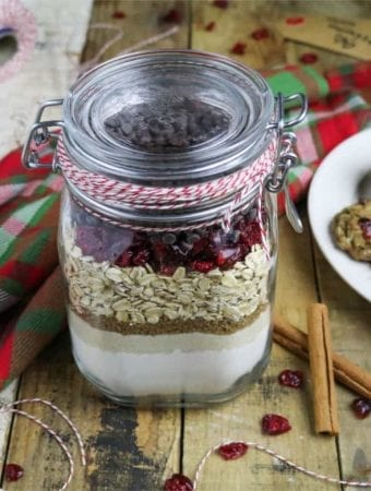 Cranberry-Oatmeal Chocolate Chip Cookies in a Jar