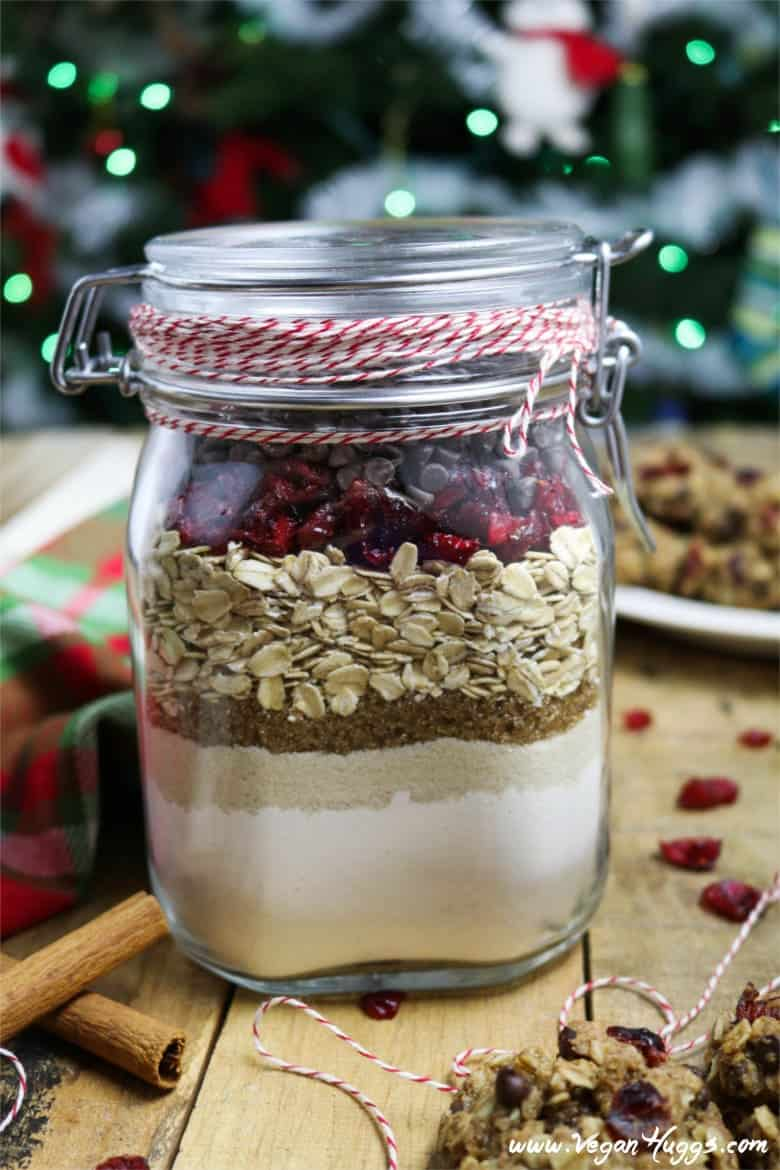 Cranberry Oatmeal Chocolate Chip Cookies In A Jar Vegan