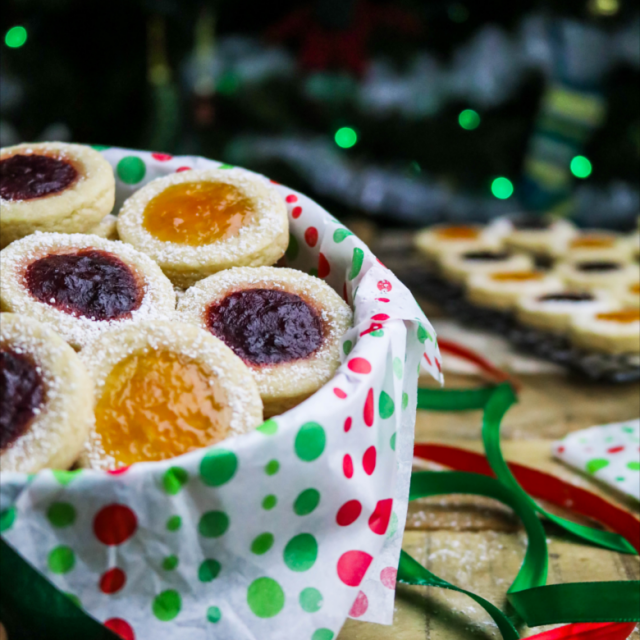 It's not the holidays unless there's some jam-filled, Vegan Thumbprint Cookies floating around. The combination of delicious jam, melt-in-your-mouth shortbread, and sweet powdered sugar will help you bring on the festive spirit!
