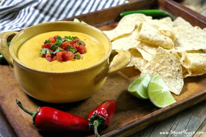This Vegan Nacho Cheese is creamy, spicy, tangy and full of mouth-watering flavor! It's easy to prepare and filled with wholesome ingredients, too.