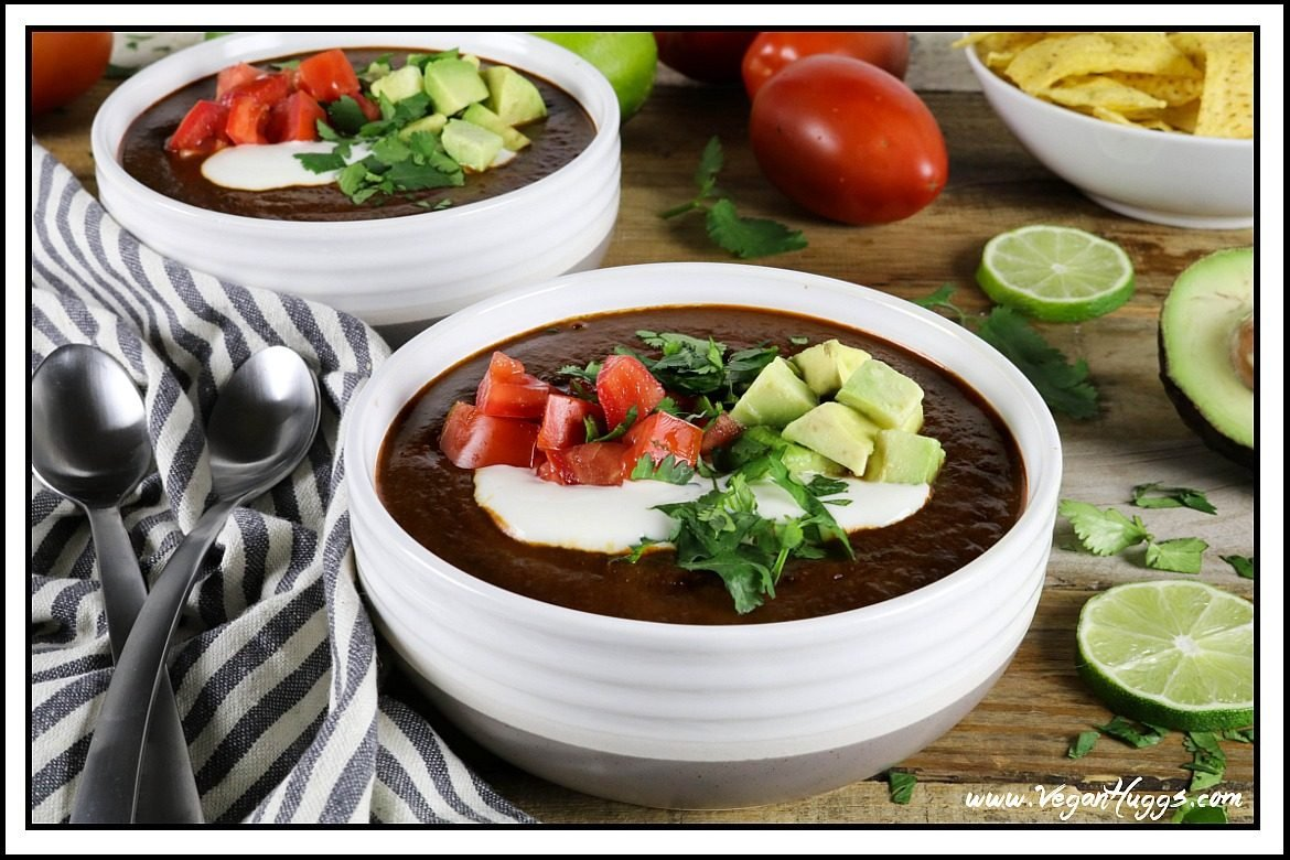 Tomato black bean soup vegan gf vegan huggs this tomato black bean soup is from jason wyricks new book vegan mexico its hearty forumfinder Image collections