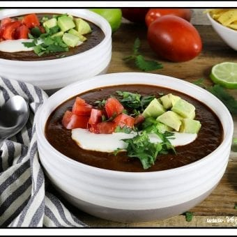 Tomato Black Bean Soup (Vegan & GF)