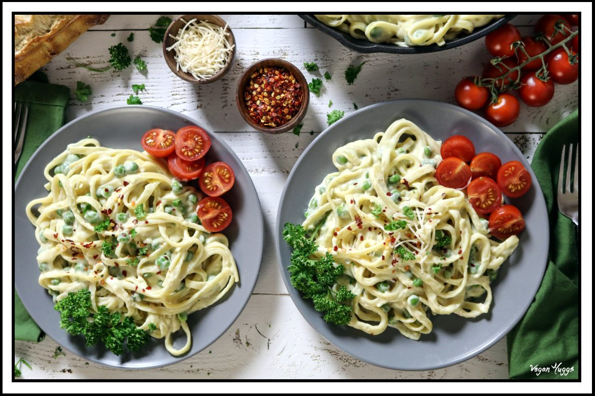 This Vegan Fettuccine Alfredo is rich, creamy & buttery. It's a simple, yet luxurious dish, that can be yours in 30 minutes or less.