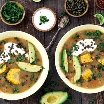 Vegan Ajiaco (Colombian Potato Soup)