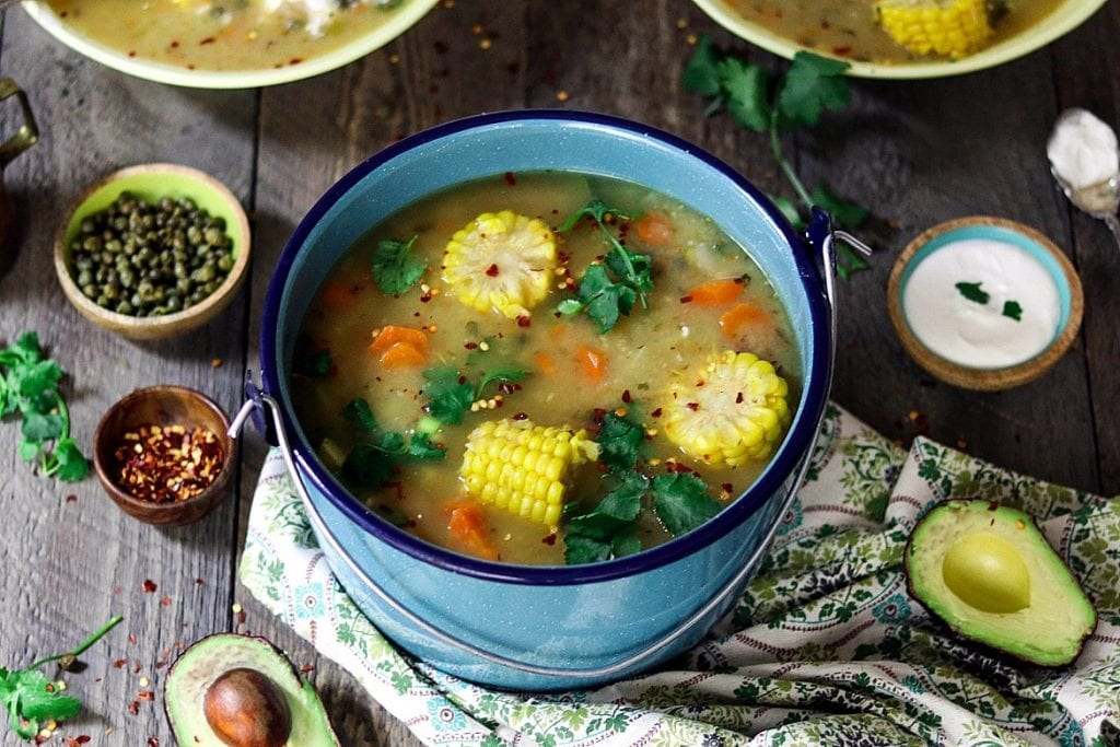 Ajiaco is a satisfying, one-pot meal, served with an array of mouth-watering fixin's that'll make your taste buds dance!