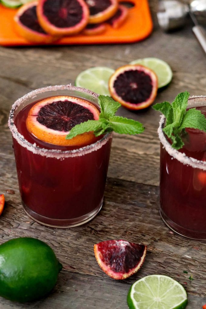 Blood Orange Margaritas ~ made with fresh-squeezed citrus, agave nectar and your favorite tequila. So simple & refreshing!