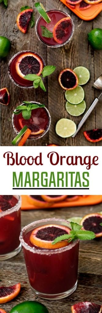 Blood Orange Margaritas ~ made with fresh-squeezed citrus, agave nectar & your favorite tequila. So simple & refreshing!