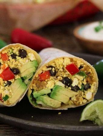 Vegan Breakfast Burrito (The Blossom Cookbook)