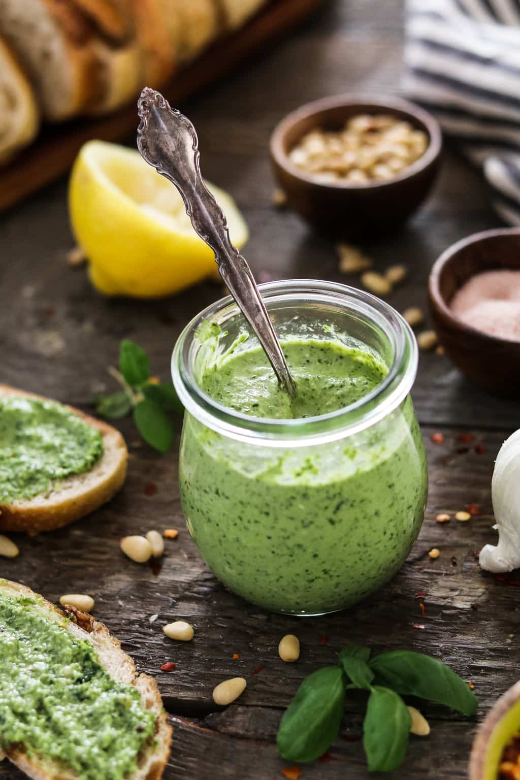 Are you up to your ears in garden zucchini yet? How about a fresh-tasting Zucchini Pesto to help you get through it? It's quick, easy, oil-free, vegan and delicious!