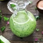 This Avocado Cilantro Lime Dressing is creamy, healthy and bursting with fresh citrusy flavors! It takes minutes to make, plus it's oil-free and vegan too.
