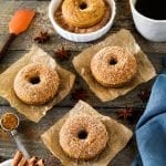 These Cinnamon Sugar Pumpkin Spice Donuts are the perfect way to welcome fall! Vegan & delicious!