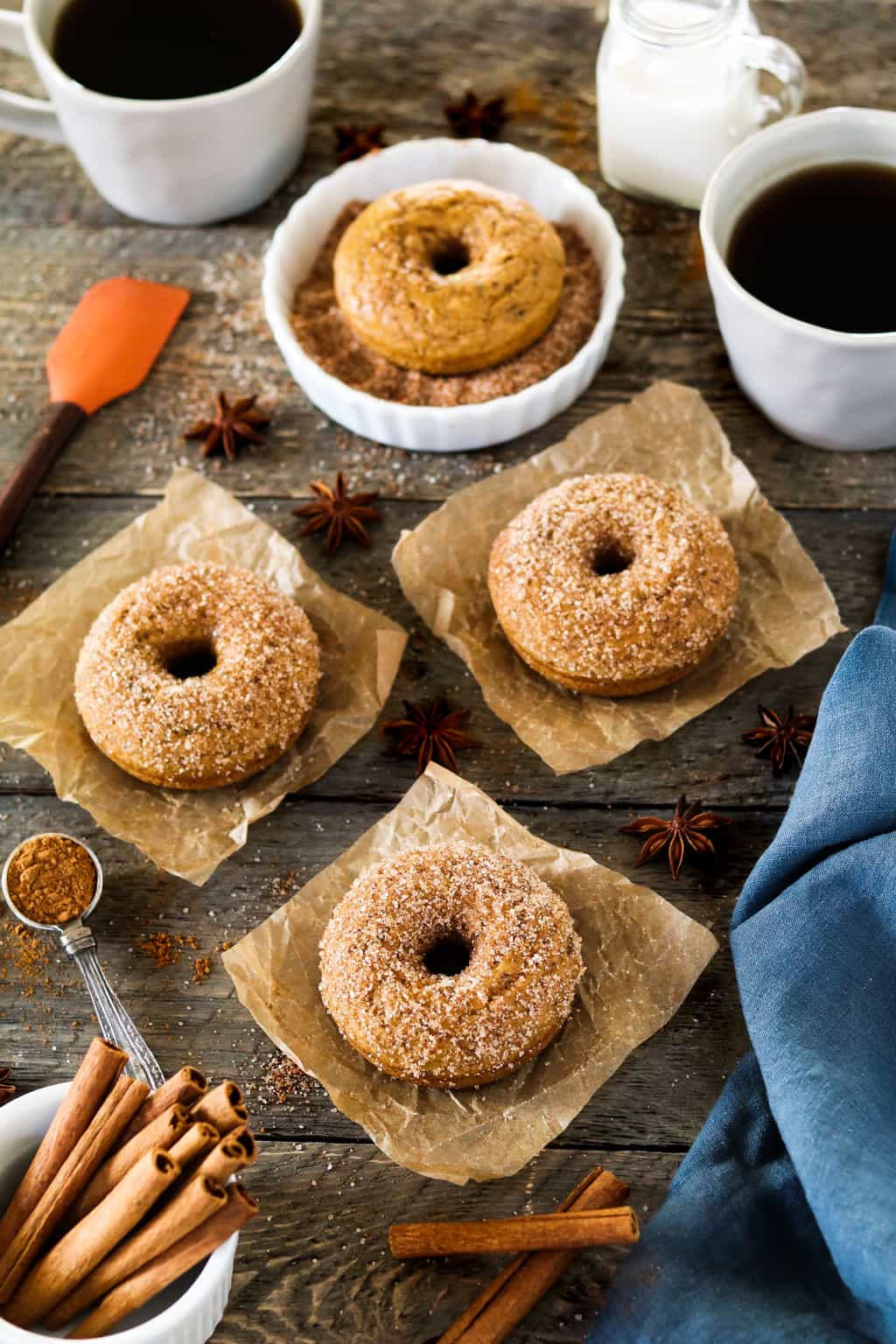 These Cinnamon Sugar Pumpkin Spice Donuts are the perfect way to welcome fall!Vegan & delicious!