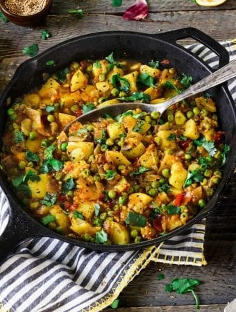 Bombay Potatoes and Peas
