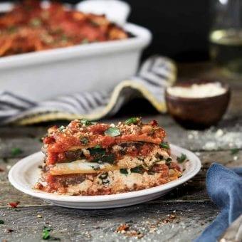 Vegan Spinach Mushroom Lasagna