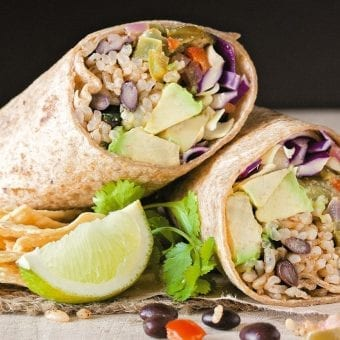 Chipotle and Lime Vegan Burritos