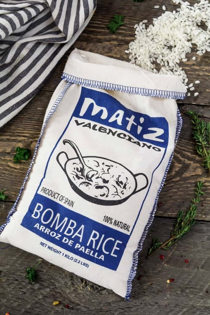 Bag of Bomba rice for Vegetable Paella Recipe