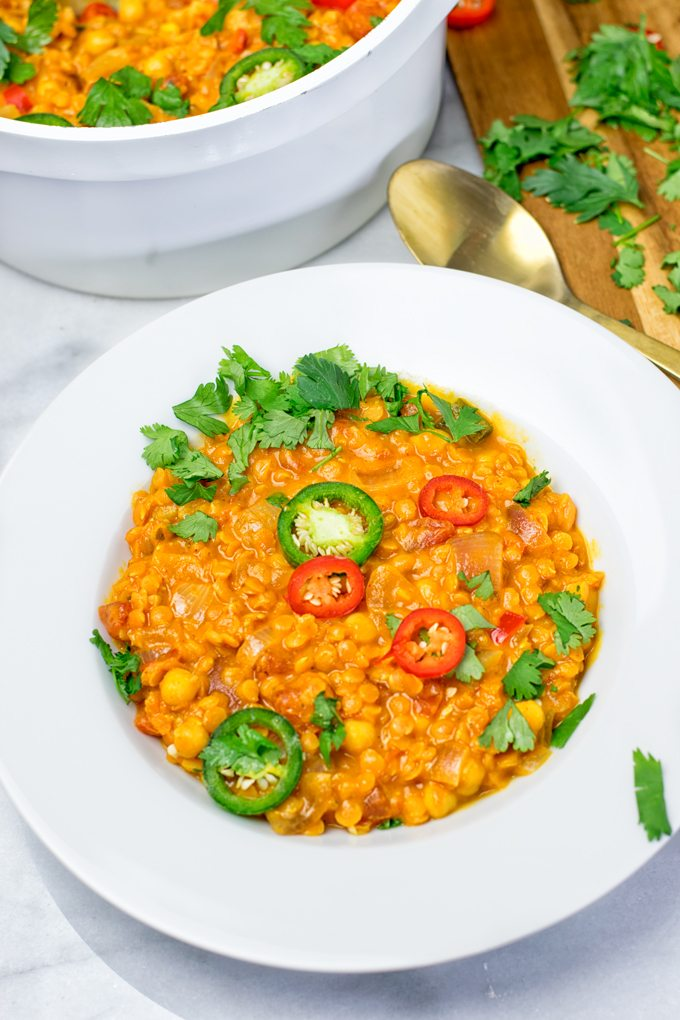 Easy Vegan Dinner Recipes - moroccan chickpea lentil stew