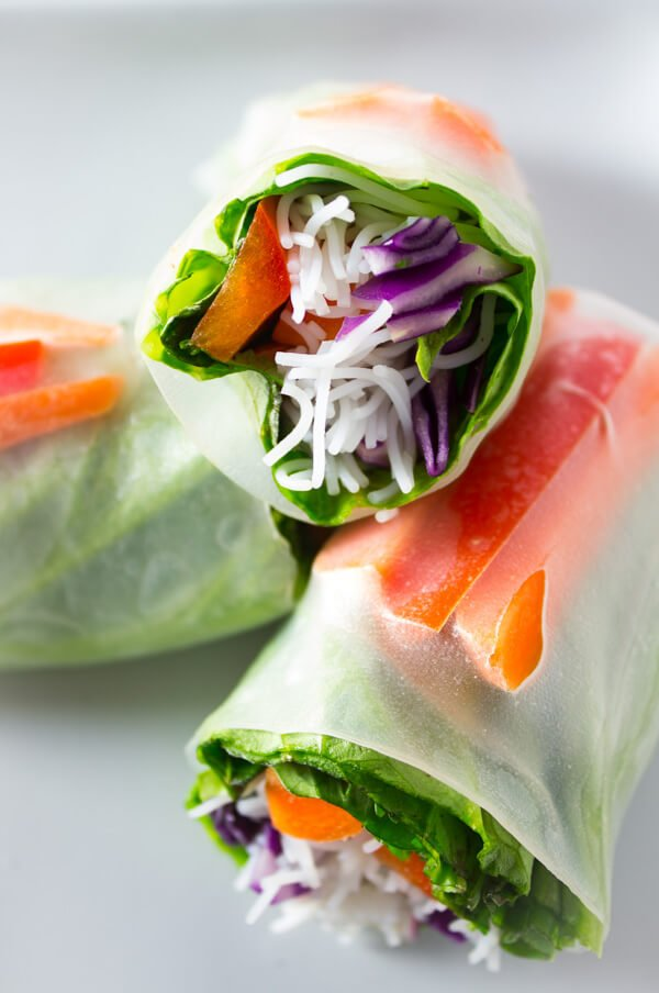 Easy Vegan Dinner Recipes - spring rolls