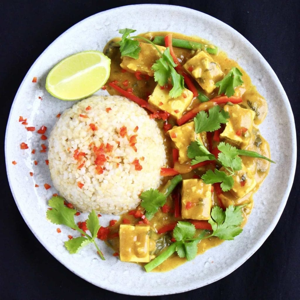 Easy Vegan Dinner Recipes - tofu satay
