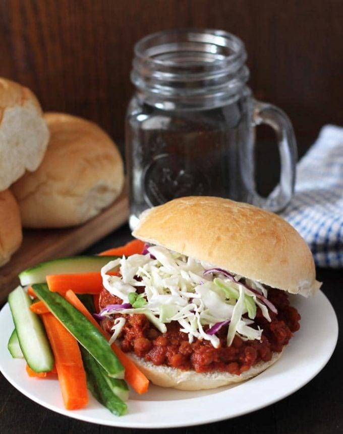 Lentil Sloppy Joes - Easy Vegan Dinner Recipes
