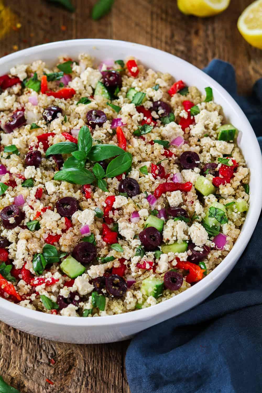 Mediterranean Quinoa Salad Vegan Gf Vegan Huggs