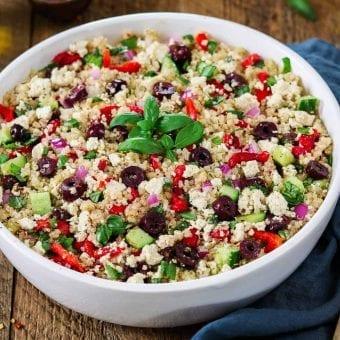 Mediterranean Quinoa Salad (Vegan + GF)