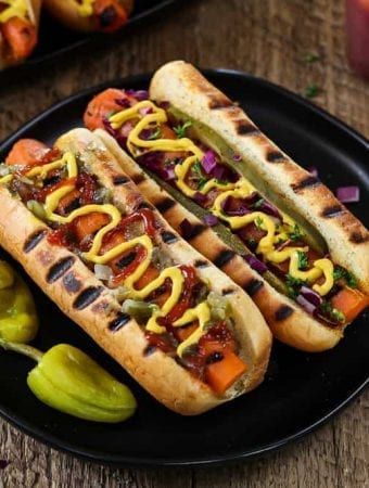 Grilled Vegan Carrot Hot Dogs