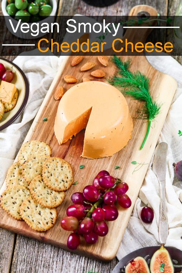 Vegan Smoky Cheddar Cheese