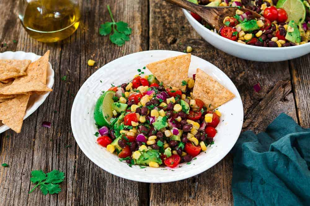 Avocado Black Bean Corn Salad - A Party Favorite! - Vegan Huggs